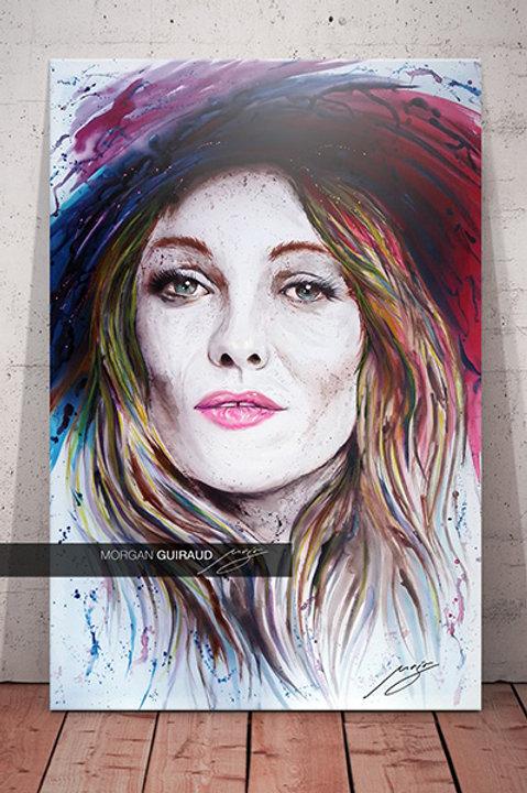Vanessa Paradis portrait neo pop art tableau peinture