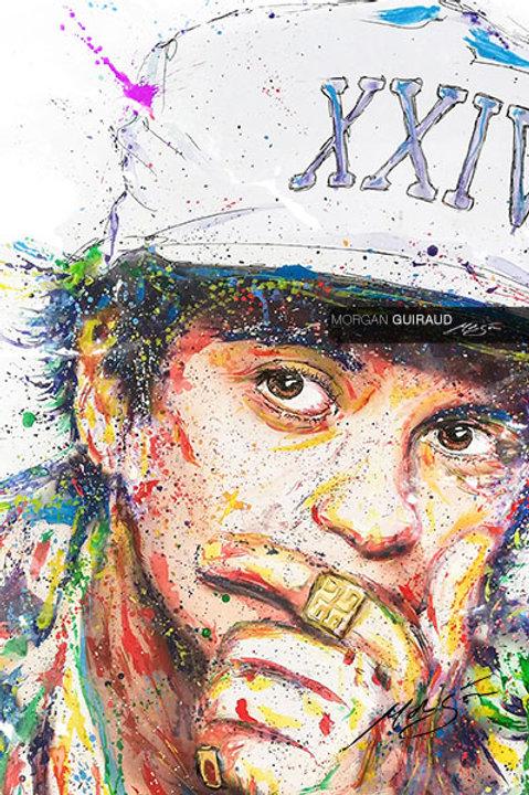 Bruno Mars Neo Pop Art mixed media