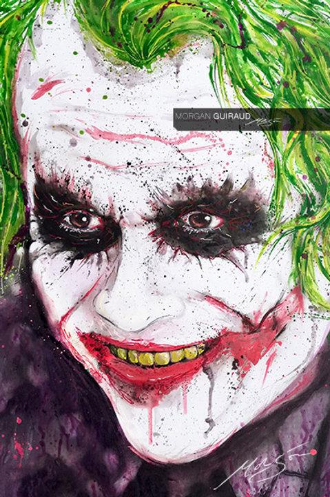 The Joker Heath Ledger Dark Knight - Hand finish Silkscreen Variant