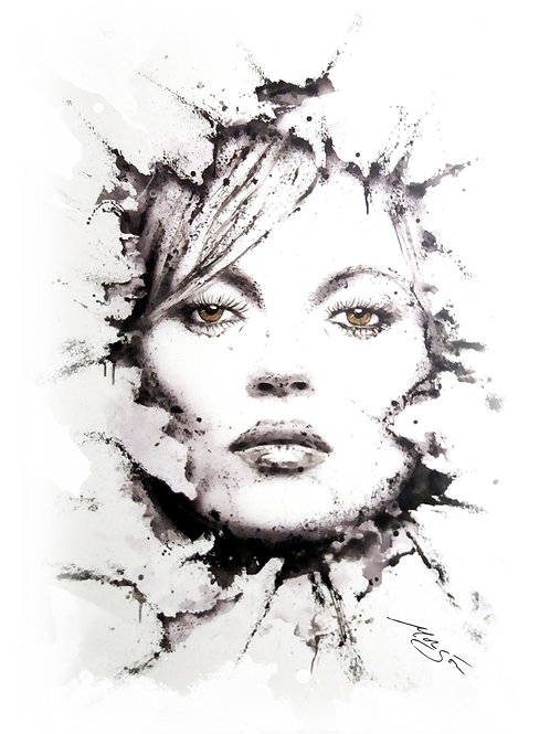 Kate Moss - Top model painting
