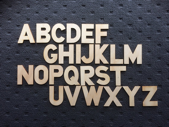 Wooden Alphabet (UPPERCASE)