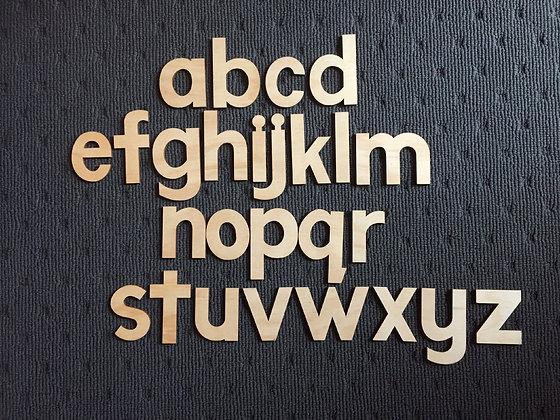 Wooden Alphabet (lowercase)