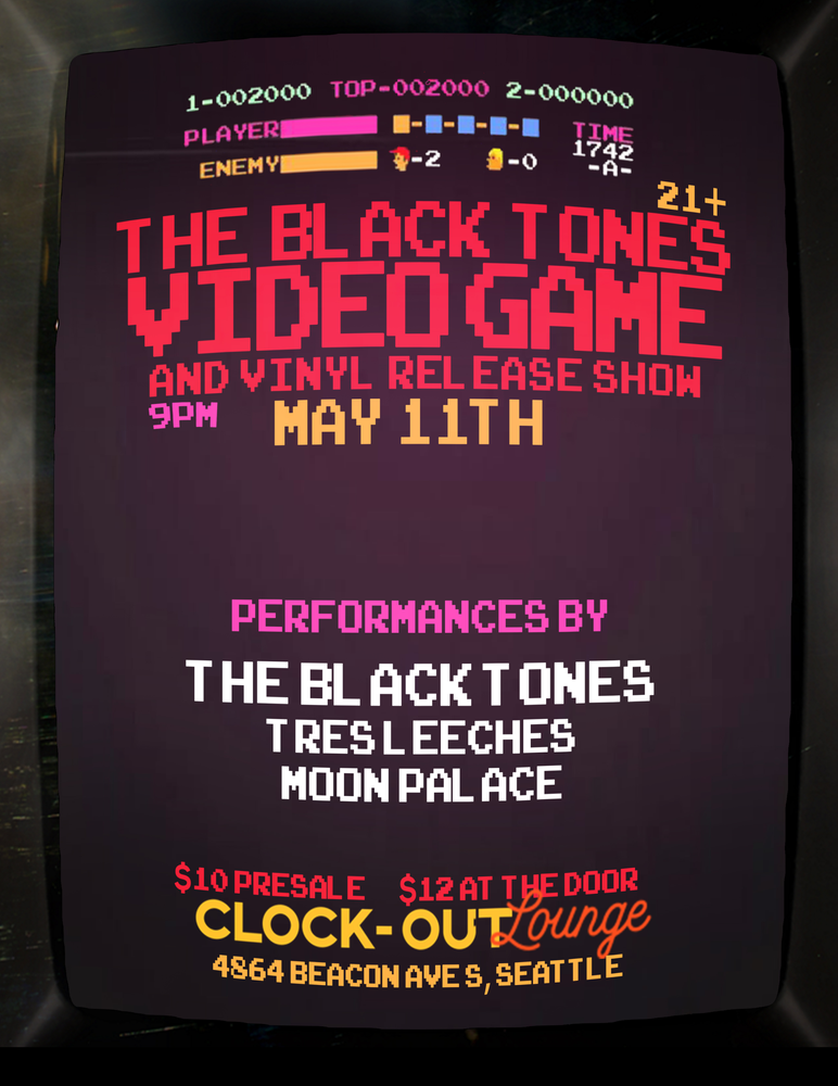 The Black Tones Announce Video Game and Vinyl Release Show