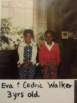 Eva and Cedric Walker of The Black Tones at 3 years old in Seattle Washington