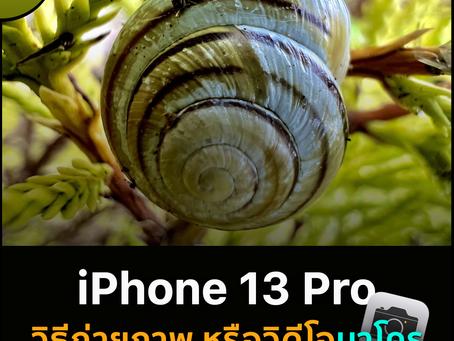 iPhone 13 Pro: วิธีถ่ายภาพ หรือวิดีโอ แบบมาโคร