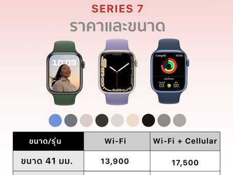 มาแล้วจ้า Apple Watch Series 7 ไปตำกัน