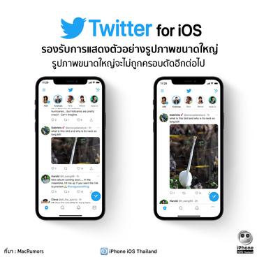 Twitter รองรับการแสดงตัวอย่างรูปภาพขนาดใหญ่