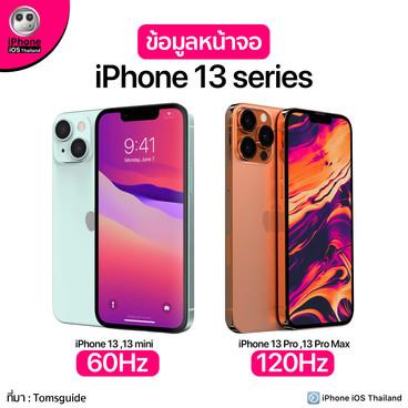 ข้อมูลหน้าจอ iPhone 13 series