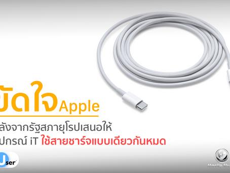 ขัดใจ Apple ทางรัฐสภาเสนอให้อุปกรณ์ iT ใช้สายชาร์จแบบเดียวกันทั้งหมด