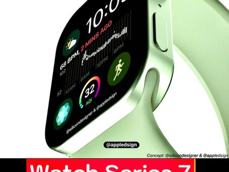 Watch Series 7 สีเขียว💚 ดีไซน์ใหม่ ทรงเหลี่ยม เหมือนกับ iPhone 12