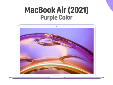 Concept  MacBook Air (2021) สีม่วงสดใส