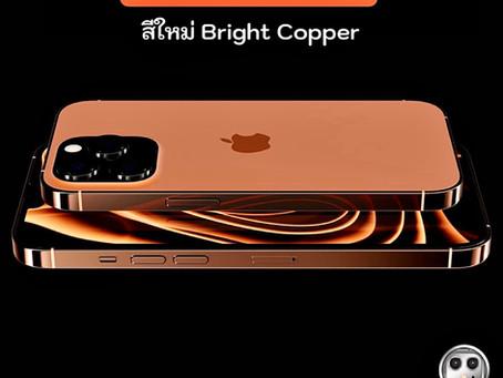 iPhone 13 Pro / 13 Promax อาจมีสีใหม่เป็นสีทองเรียกว่า Bright Copper