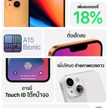 iPhone 13 สเปคคาดการณ์ล่าสุดของรุ่นน้อง