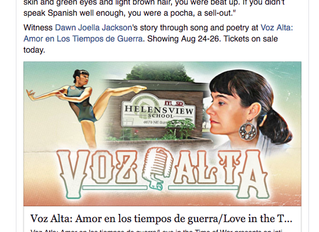 "Voz Alta listed as ""arts pick"" by Oregonlive"