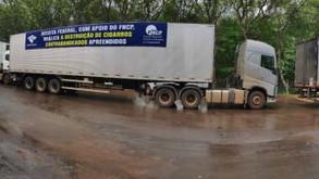 Força-tarefa destrói 105 toneladas de cigarros ilegais