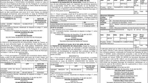 Publicidade Legal | Edital - 19/04/2021