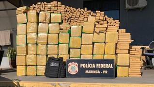 Polícias apreendem mais de uma tonelada de maconha