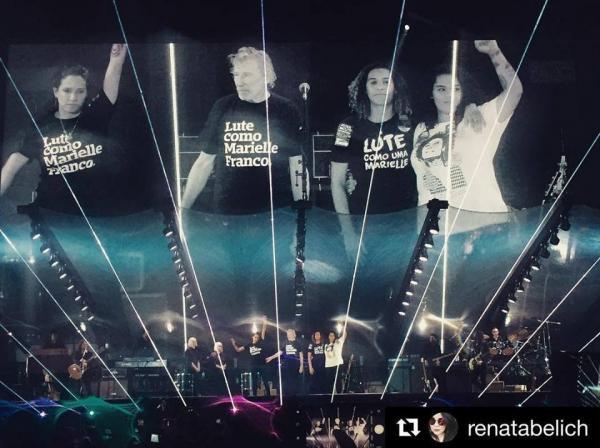 Roger Waters faz homenagem a Marielle Franco em show no Rio