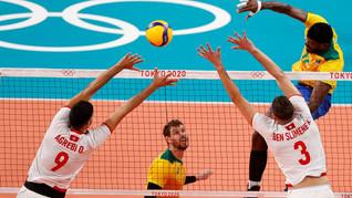 Brasil passa pela Tunísia na estreia do vôlei masculino