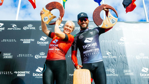 Brasil domina topo do pódio em Margaret River do Mundial de Surf
