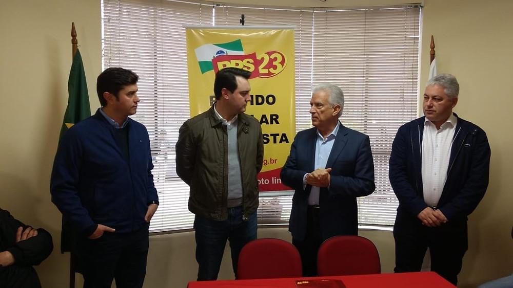 PPS confirma apoio a Ratinho Junior