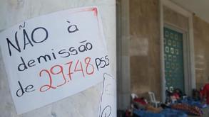 Greve de fome dos professores estaduais completa 100 horas