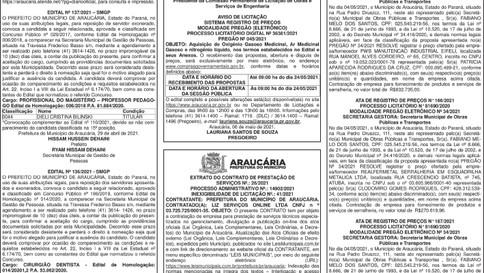 Publicidade Legal | Edital - 07/05/2021
