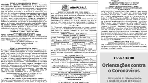 Publicidade Legal | Edital - 20/07/2021