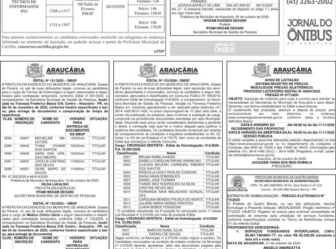 Publicidade Legal | Edital - 23/10/2020