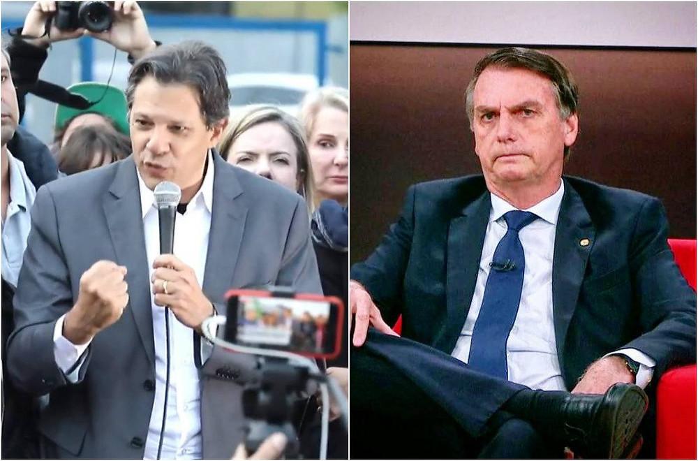 Haddad cresce 11 pontos e se habilita para 2º turno com Bolsonaro
