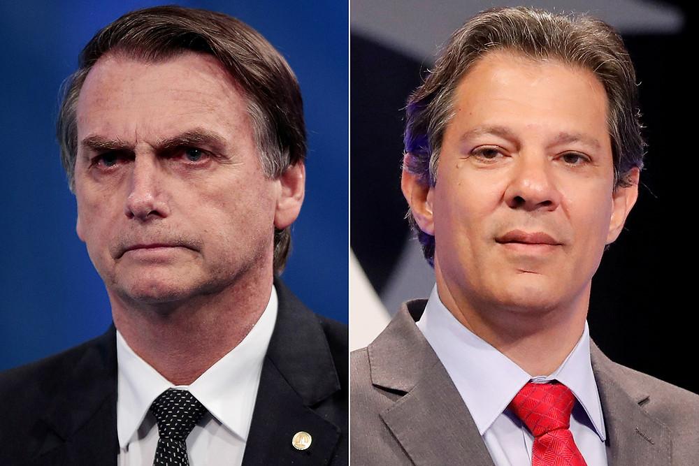 Datafolha aponta 2º turno entre Bolsonaro e Haddad