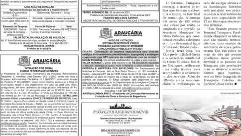 Publicidade Legal | Edital - 14/04/2021