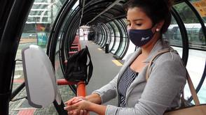Estações-tubo passam a ter álcool gel para os passageiros