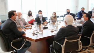 Ratinho Jr. debate com TJ e Assembleia cenário da pandemia