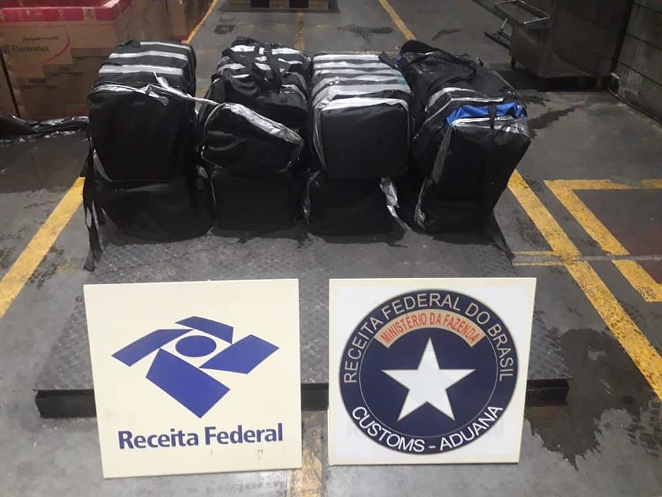 Receita apreende 347 quilos de cocaína no Porto de Paranaguá