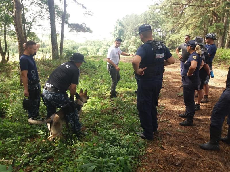 Guardas municipais participam de curso para preparar cães