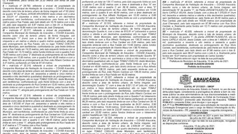 Publicidade Legal | Edital - 14/07/2021