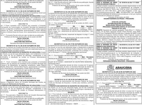Publicidade Legal | Edital - 30/10/2020
