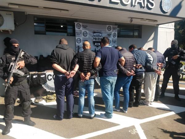 Polícia prende quadrilha que roubou bancos na Região Metropolitana
