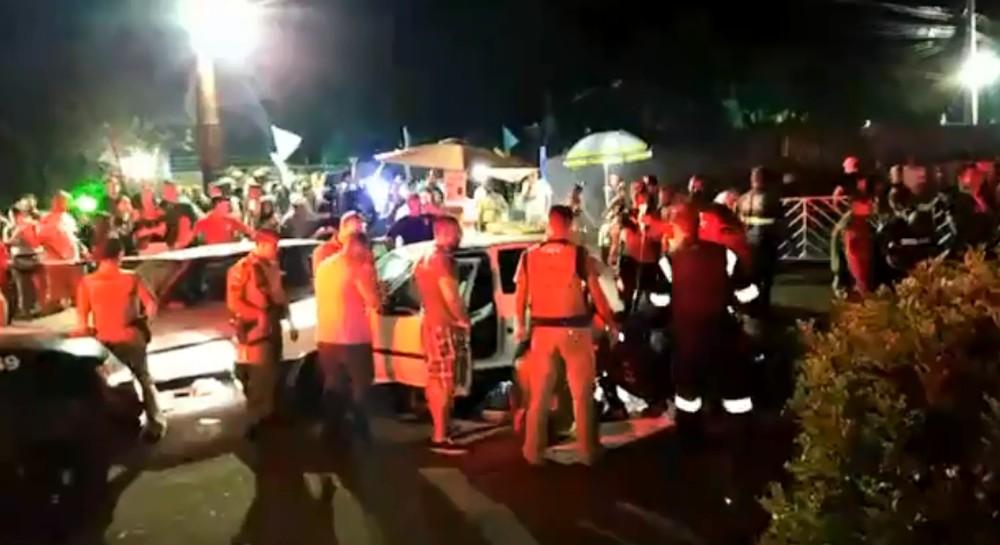 Jovem atropela oito e é morto pela PM em Maringá