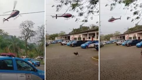 Helicóptero é sequestrado para resgate de presos no Rio de Janeiro