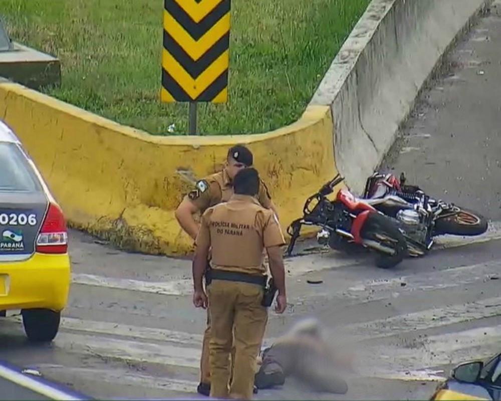 Policial acusado de matar motociclista é preso