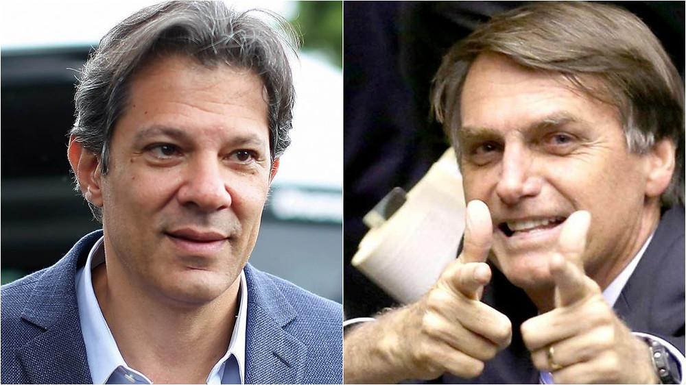 Datafolha aponta Bolsonaro com 28% e Haddad com 22%