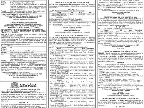 Publicidade Legal | Edital - 15/01/2021