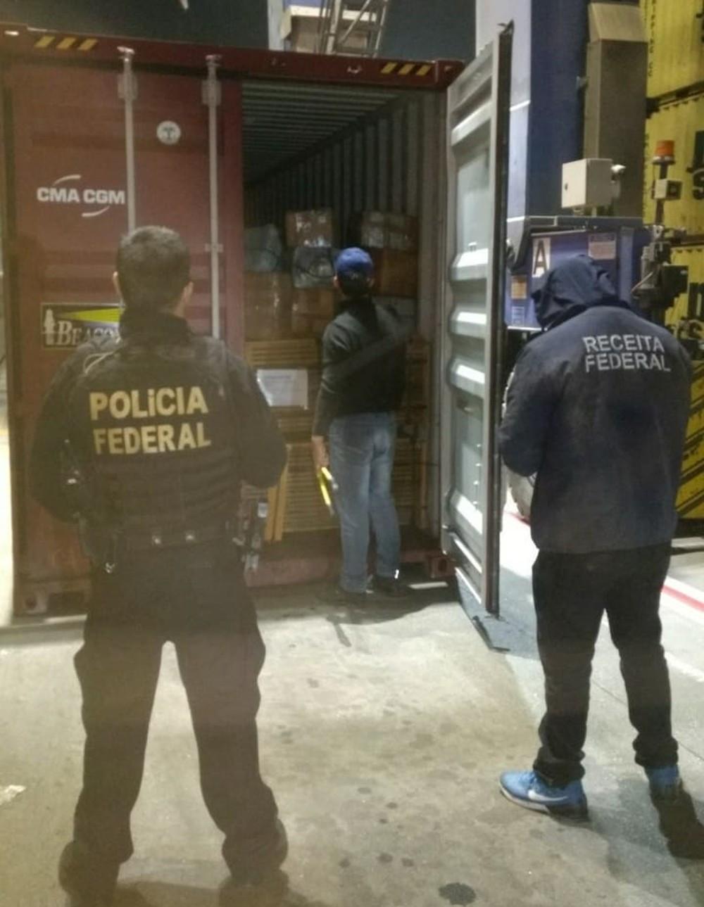 Receita apreende 662 kg de cocaína s no Porto de Paranaguá