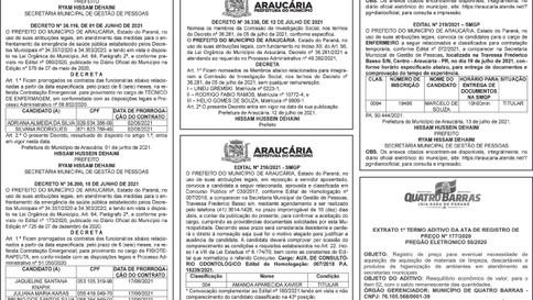 Publicidade Legal | Edital - 15/07/2021