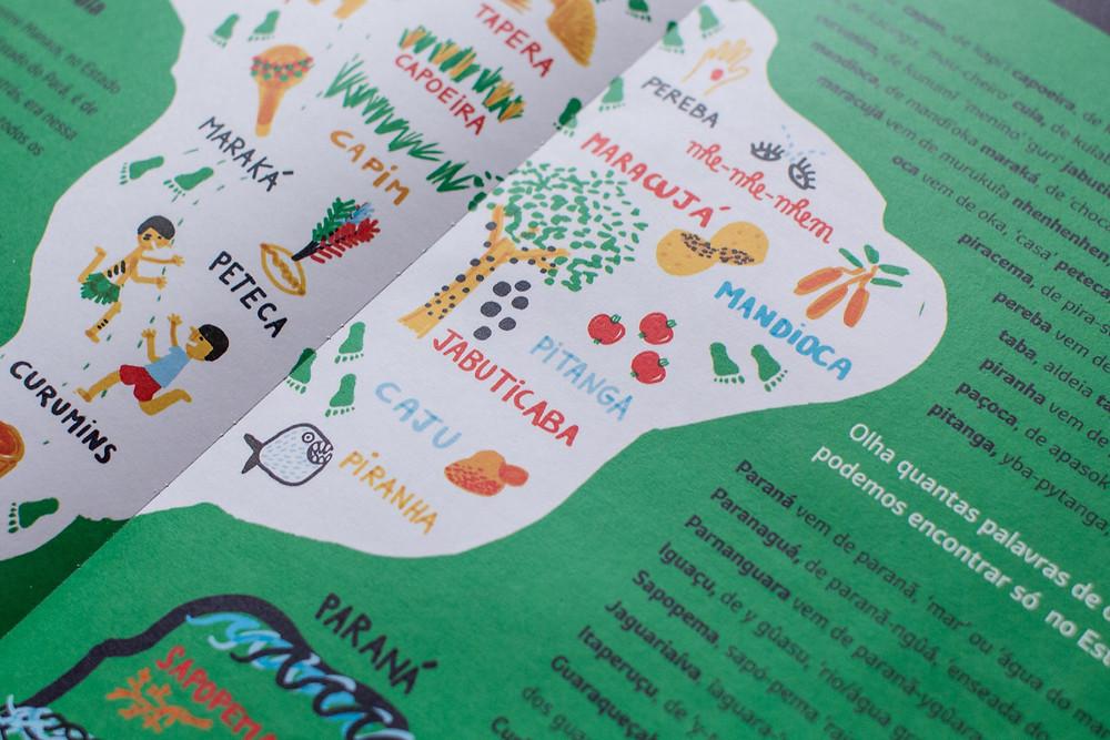 Livro infantil destaca a contribuição indígena à língua