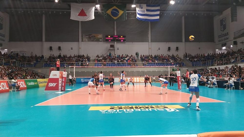 Curitiba Vôlei perde para o Minas em Belo Horizonte