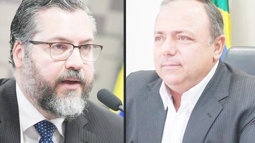 CPI ouve ex-ministros Ernesto Araújo e Eduardo Pazuello