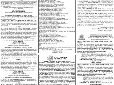 Publicidade Legal | Edital - 29/10/2020